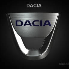 Dacia 3d Logo 3D Model