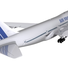 Boeing Air France 3D Model