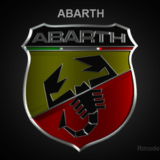 Abarth 3d Logo 3D Model