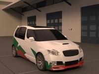 Skoda Roomster WRC 3D Model