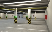 Underground Parking Garage 01 3D Model