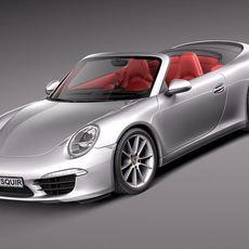 Porsche 911 Carrera Cabriolet 2013 3D Model