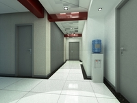 Aisle Spaces 007 3D Model