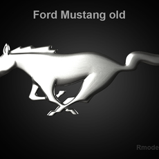 Mustang 2009 3d Logo 3D Model