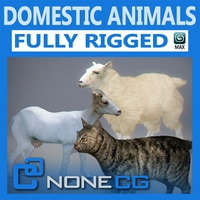 Pack - Domestic Animals Rigged 3D Model