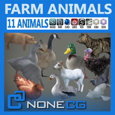 Pack - Farm Animals 3D Model