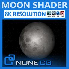 Hyperreal Moon 3D Model