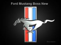 Mustang Boss 2010 3d Logo 3D Model