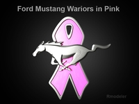 Mustang 2010 Wariorsin Pink 3d Logo 3D Model