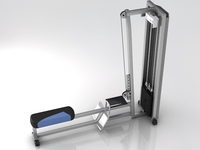 Fitness Gym Equipment 001 3D Model