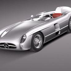 Mercedes-Benz 300 SLR 1955 spider 3D Model