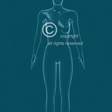 Female Woman Poses + 3D Anatomy Photo Renders for Plastic Surgery description, etc. 3D Model
