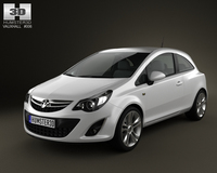 Vauxhall Corsa 3door 2011 3D Model