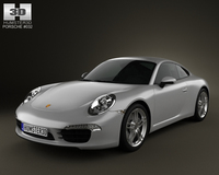 Porsche 911 Carrera Coupe 2012 3D Model