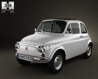 Fiat 500 1970 3D Model