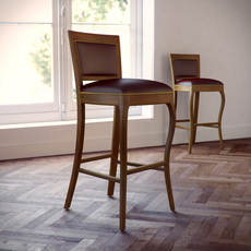 Custom bar stool 02 3D Model