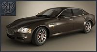 Maserati Quattroporte 2012 3D Model