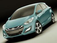 Hyundai i30 2012 3D Model
