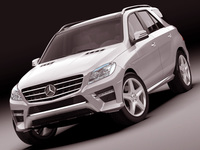 Mercedes M class AMG package 3D Model
