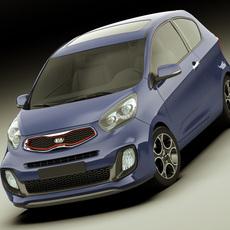 Kia Picanto Sport 2012 3door 3D Model