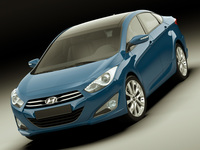 Hyundai i40 2012 sedan 3D Model