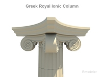 Greek ionic royal column   3D Model