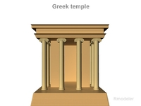 Greek Small Temple 3D Model