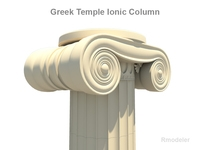 Greek ionic temple column 3D Model