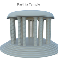 Parthia Temple 3D Model