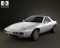 Porsche 928 1981 3D Model