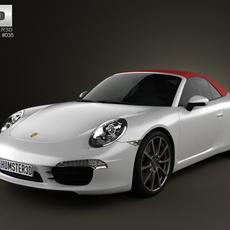 Porsche 911 Carrera S Cabriolet 2012 3D Model