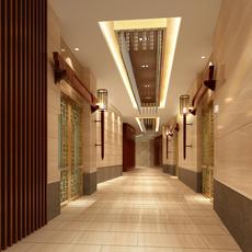 Corridor Spaces 079 3D Model