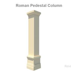 Square Column Pedestal   3D Model