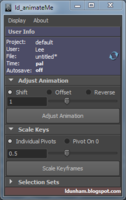 ld_animateMe (Animation Tool) 1.2.1 for Maya (maya script)