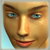 3D Model Pretty Female Head 3D Model