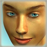 3D Model Pretty Female Head 3D Model