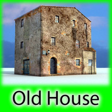 3D Model Old European House Detailed Realistic 3D Model