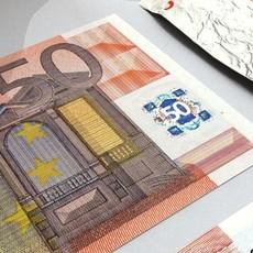 50 Euro Paper Money 3D Model