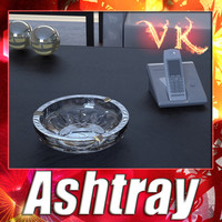 3D Model Photorealistic Ashtray High Detail 3D Model