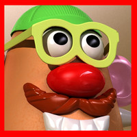 Mister Potato Head Toy 3D Model