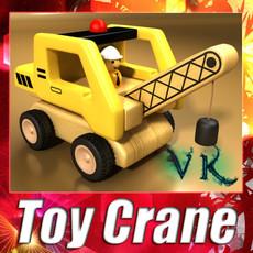 3D Model Wooden Toy Crane 3D Model