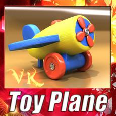 3D Model Wooden Toy Plane 3D Model