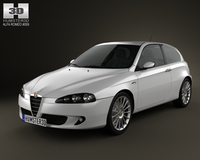 Alfa Romeo 147 3door 2009 3D Model