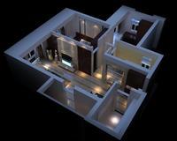 LivingRoom 059 3D Model