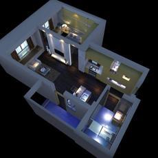 LivingRoom 060 3D Model