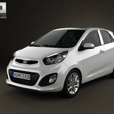 Kia Picanto (Morning) 5-door 2012 3D Model