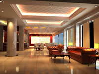 Lobby space 119 3D Model