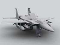 Free F-15 Jet Fighter Plane 3D Model