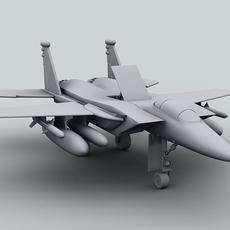 F-15 Jet Fighter Plane 3D Model