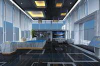 Lobby space 160 3D Model